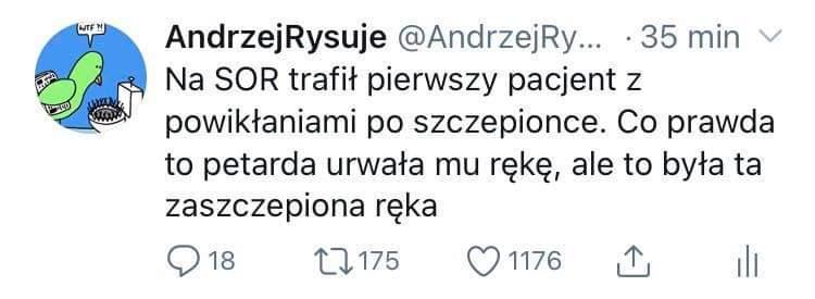 Wpis AndrzejRysuje na Twitter